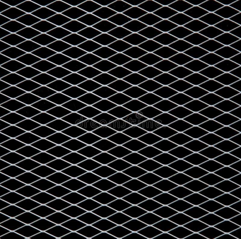 Weißes Netz auf Schwarzem stockbild