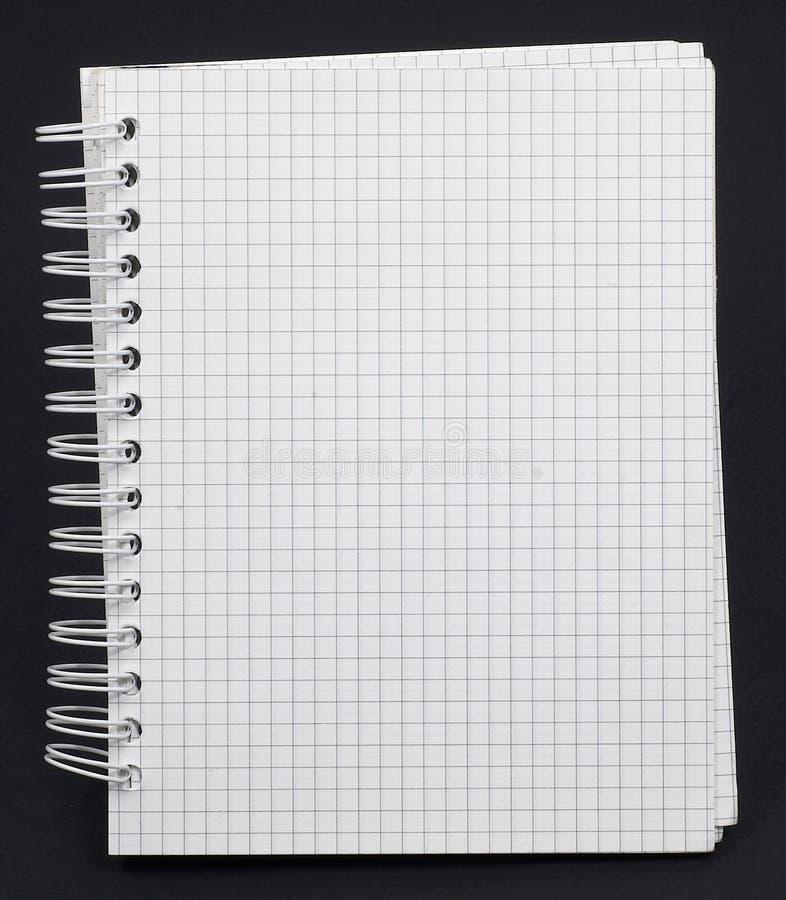 Weißes Notizbuch stockfotos