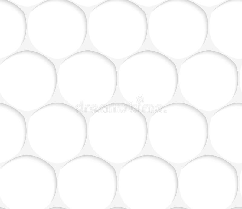 weißes ovales Gitter 3D vektor abbildung