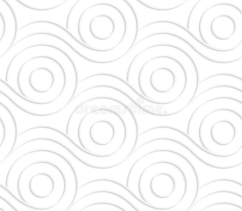 Weißes Papierrollen umrissene Spulen lizenzfreie abbildung