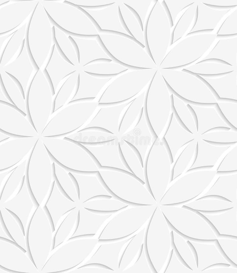 Weißes perforiertes mit Blumennahtloses lizenzfreie abbildung