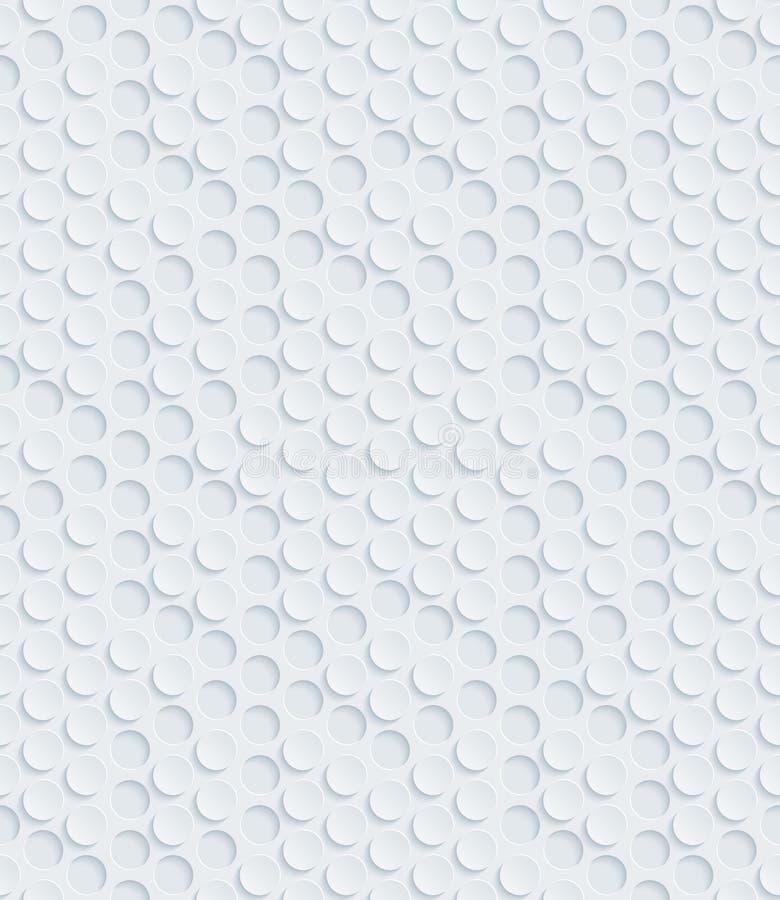 Weißes perforiertes Papier stock abbildung