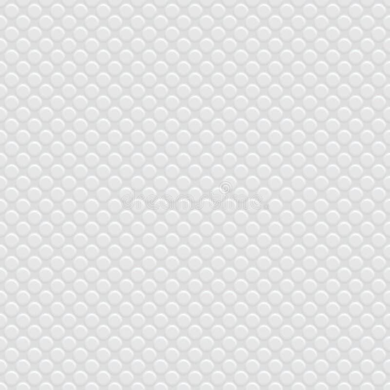 Weißes perforiertes Papier lizenzfreie abbildung