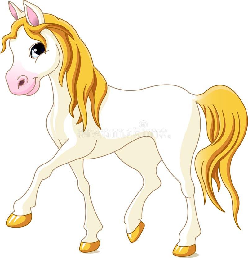 Weißes Pferd stock abbildung