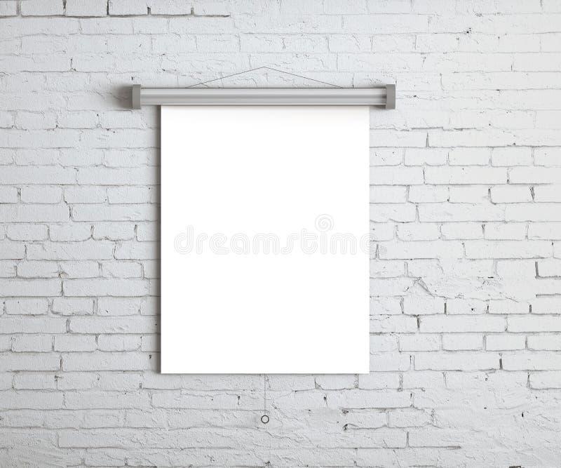 Weißes Plakat lizenzfreie abbildung