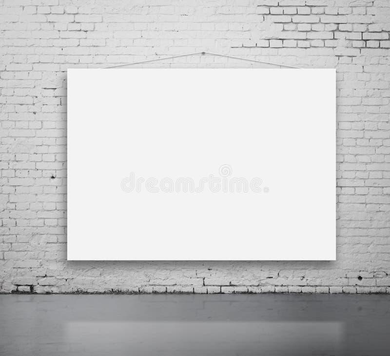 Weißes Plakat lizenzfreie stockfotos