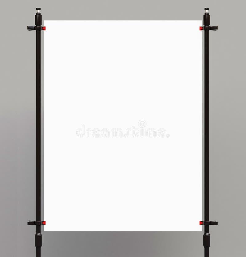 Weißes Plakat lizenzfreies stockbild