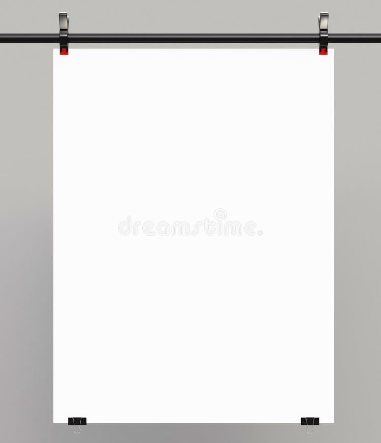 Weißes Plakat stockfotografie