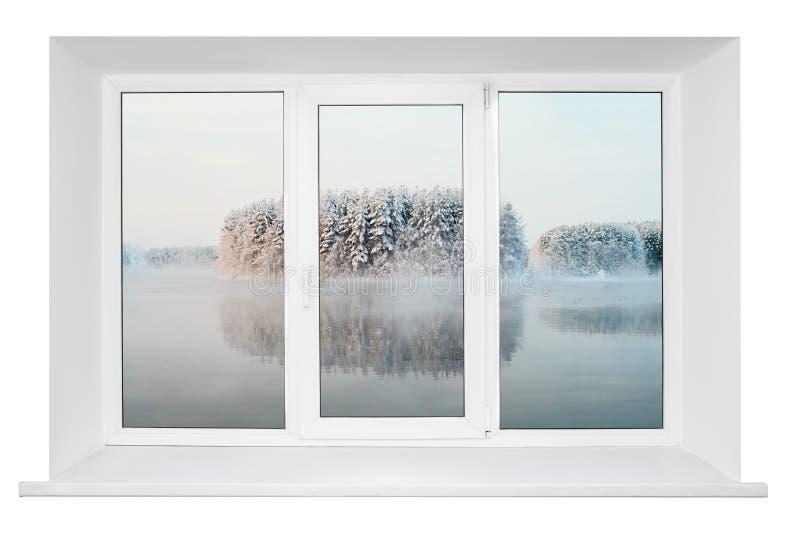 Weißes Plastikfensterfeld stockbilder
