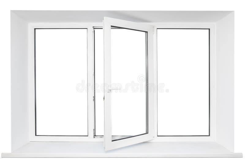 Weißes Plastikfensterfeld lizenzfreies stockfoto