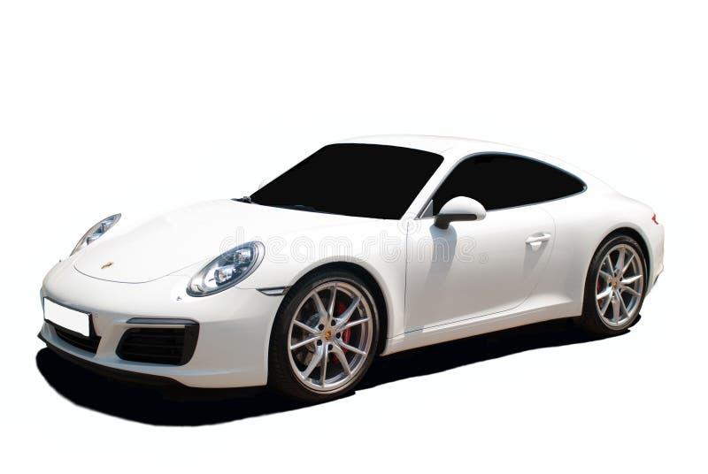 Weißes Porsche Carrera 911 lizenzfreies stockfoto