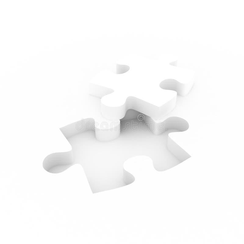 Weißes Puzzlespiel vektor abbildung
