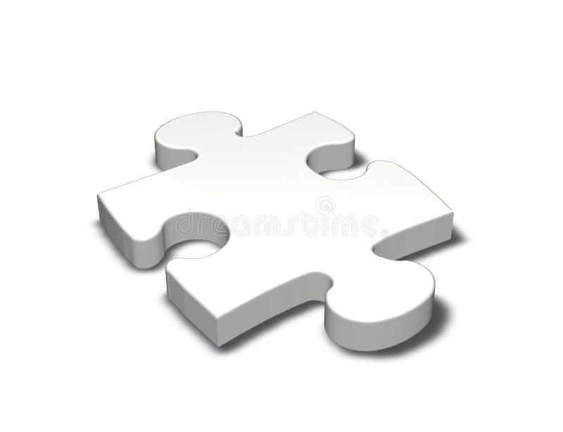 Weißes Puzzlespielstück stock abbildung