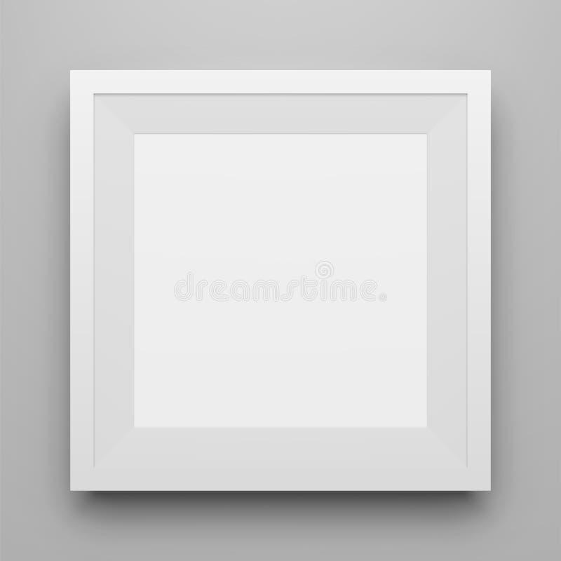 Weißes Quadrat Bilderrahmen-Modell Mit Schatten Vektor Abbildung ...