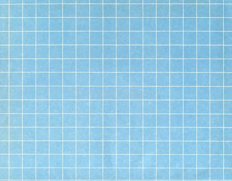 Weißes Rasterfeld auf Blau stockbild