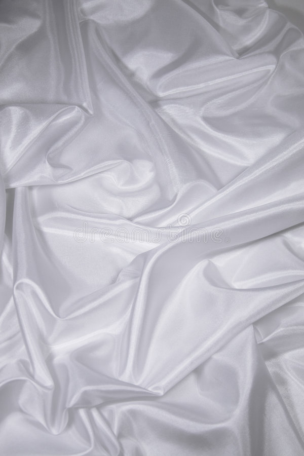 Weißes Satin-/Silkgewebe 2 lizenzfreies stockbild