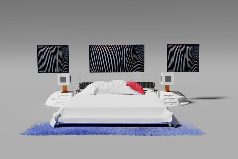 Weißes Schlafzimmer vektor abbildung