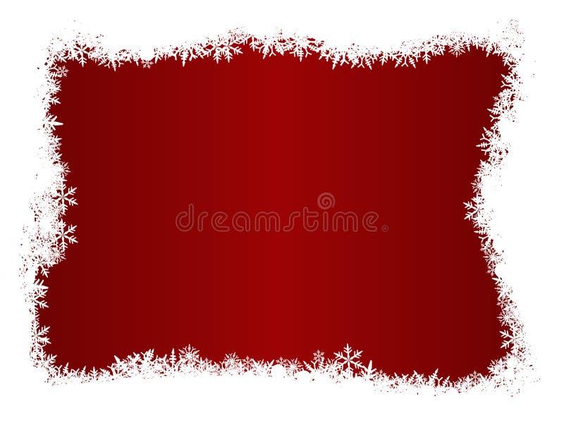 Weißes Schneeflocke-Weihnachten stock abbildung