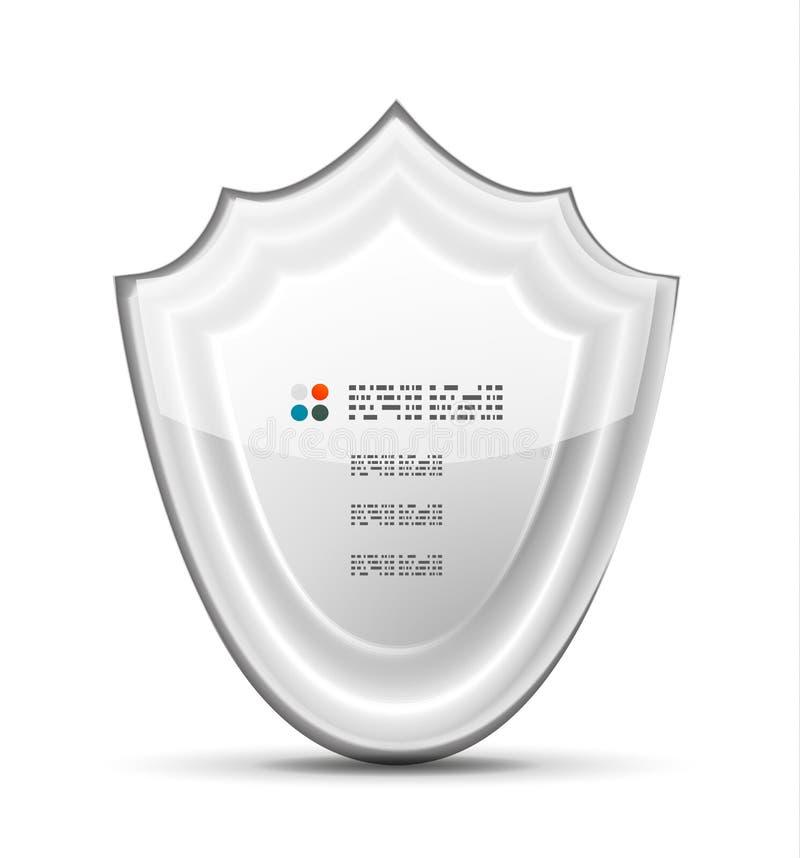 Weißes Schutzkonzept des Vektors 3d stock abbildung
