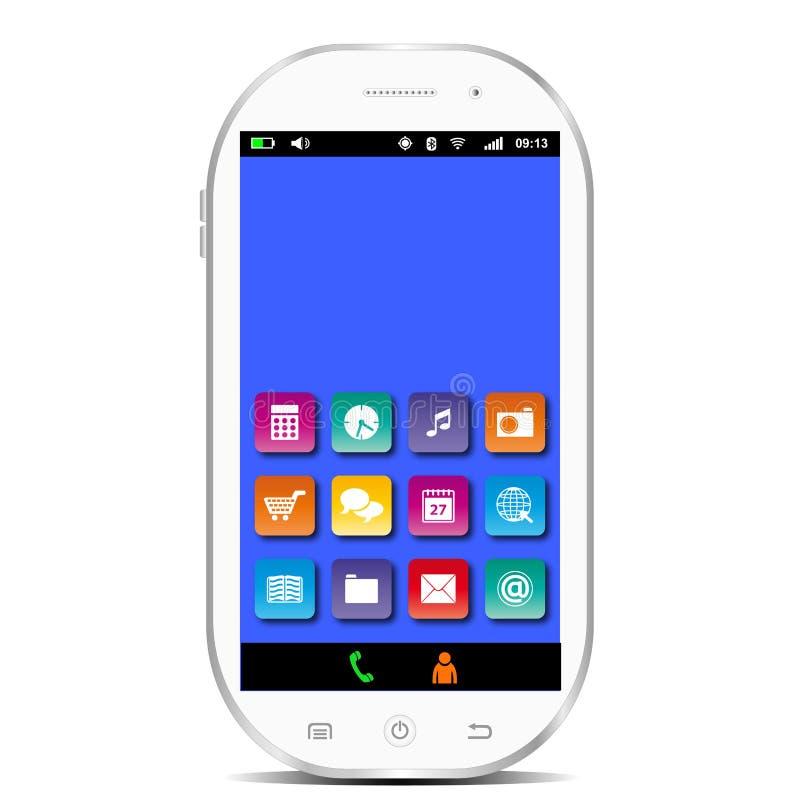 Weißes Smartphone lizenzfreie abbildung