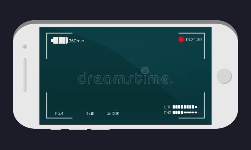 Weißes Smartphone, Kamerasucher lizenzfreies stockfoto