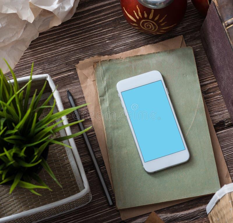 Weißes Smartphonemodell lizenzfreies stockbild