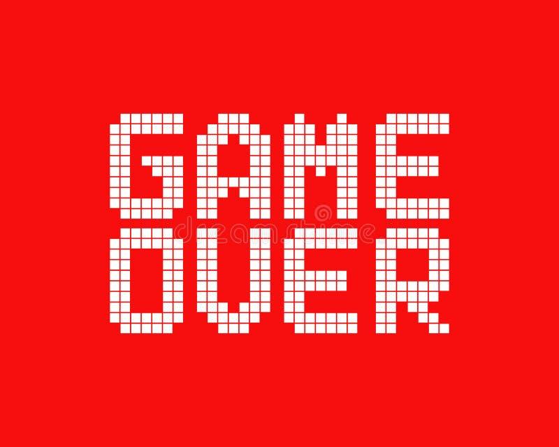 Weißes Spiel über Logo in der Pixelkunstart lizenzfreie abbildung