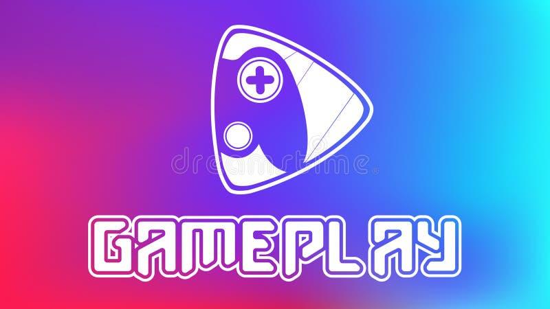 weißes Spiellogo/Hintergrunddesignvektor lizenzfreie stockfotos