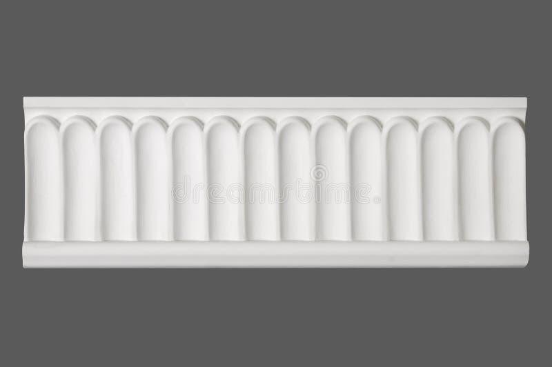 Weißes Stuckformteil lizenzfreie stockbilder
