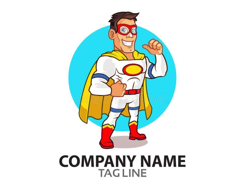 Weißes Superheld-Logo vektor abbildung