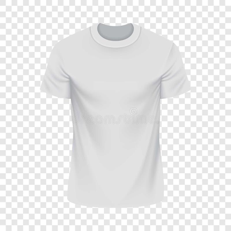Weißes T-Shirt Modell, realistische Art stock abbildung