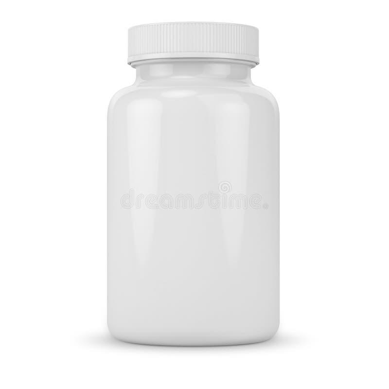 Weißes Tablettenfläschchen lizenzfreies stockbild