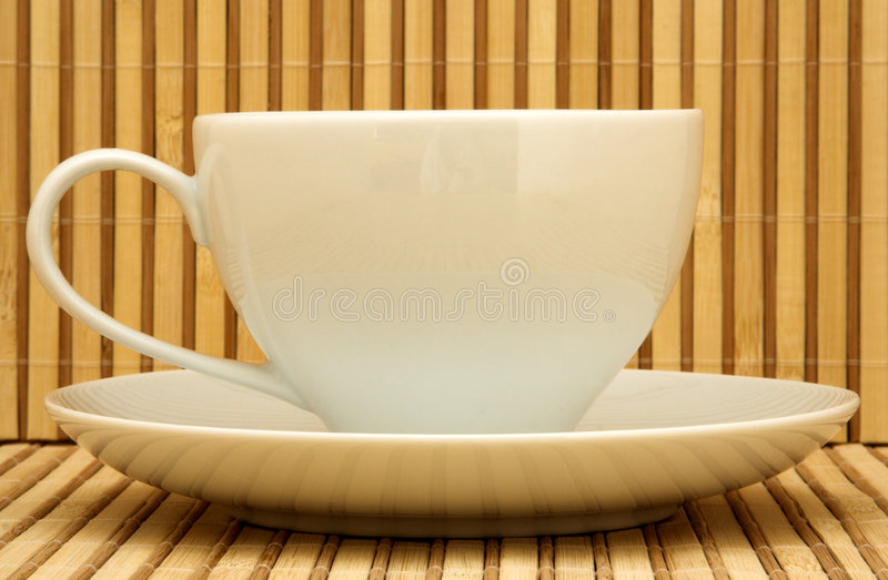 Weißes Teecup lizenzfreie stockbilder