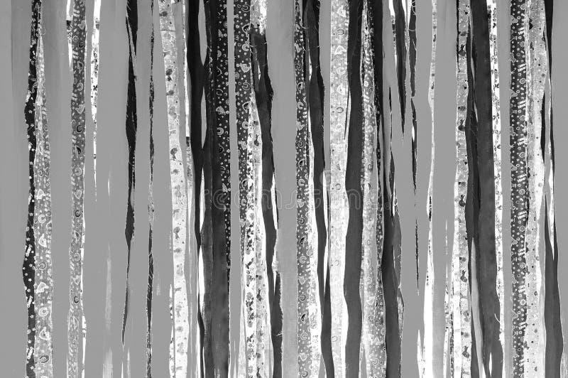 Weißes und graues Tongewebe streift Hintergrund ab Monotone Beschaffenheitstapete stockbilder