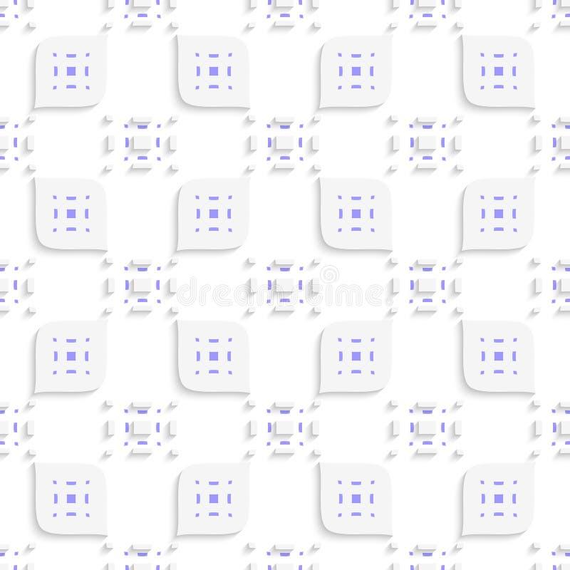 Weißes und purpurrotes kleines Rechteck sucht tastend und verlässt nahtlos vektor abbildung