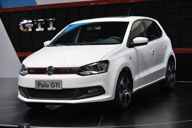 Weißes VW-Polo gti lizenzfreie stockfotografie