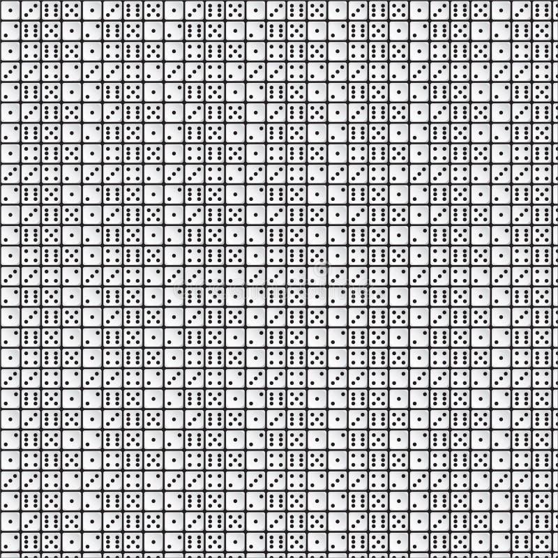 Weißes Würfel-Muster auf schwarzem Hintergrund stockfoto