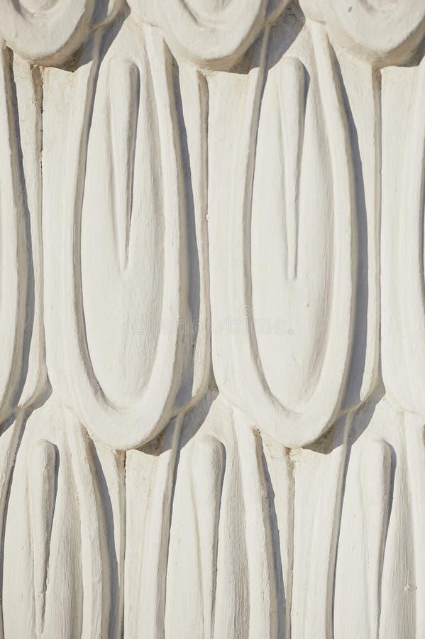 Weißes Wandgestaltungsluxusflachrelief mit Stuckformteile roccoco Element stockfoto