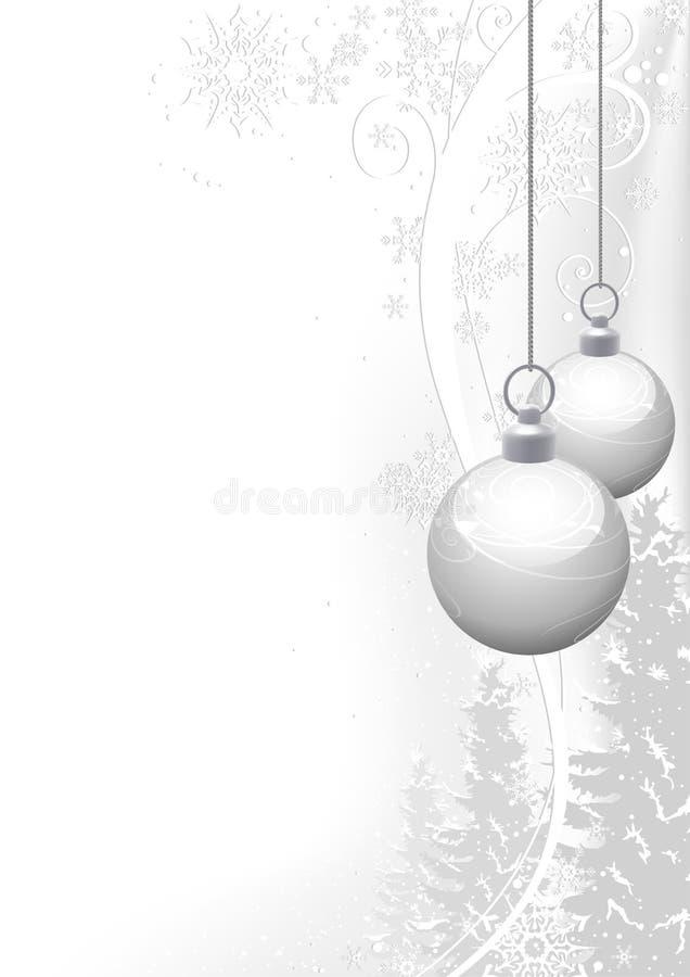 Weißes Weihnachten und Winter mit Blumen lizenzfreie abbildung