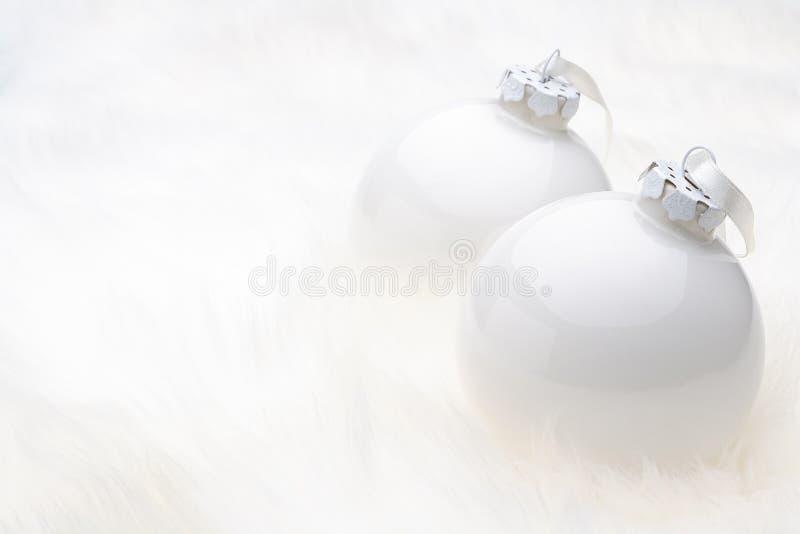 Weißes Weihnachtsflitter lizenzfreies stockbild