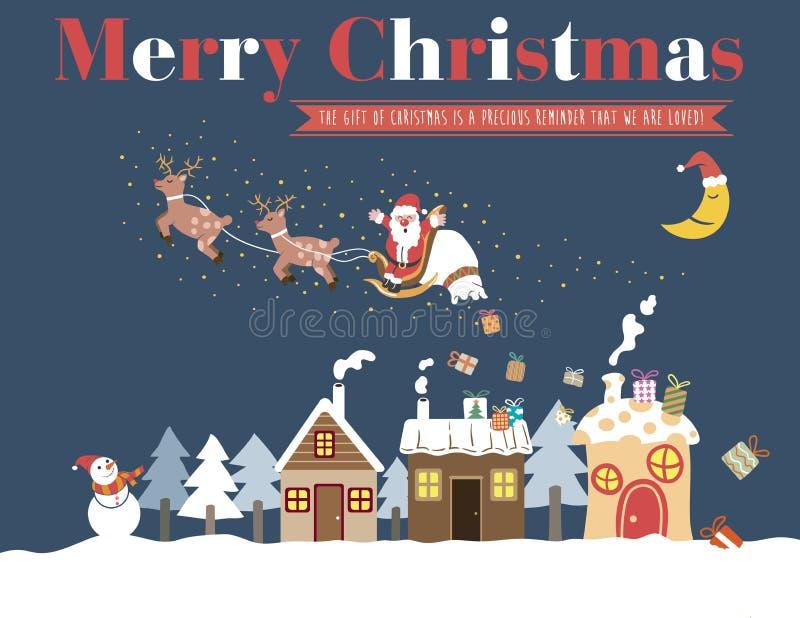 Weißes Weihnachtsgrußkarte lizenzfreie stockbilder