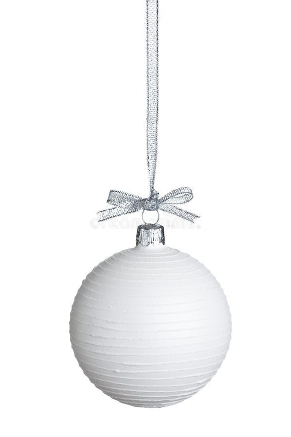 Weißes Weihnachtskugel lizenzfreies stockbild