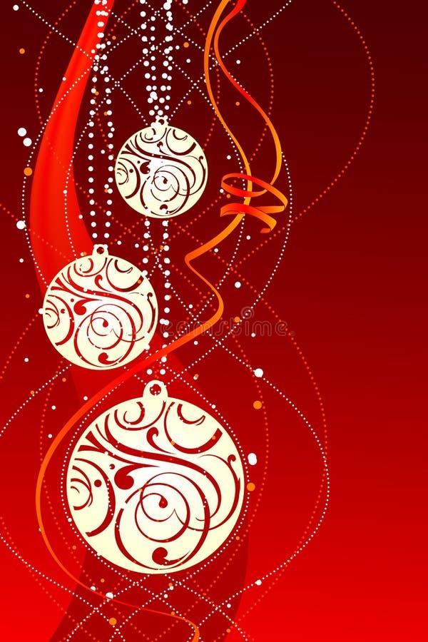 Weißes Weihnachtskugeln stock abbildung