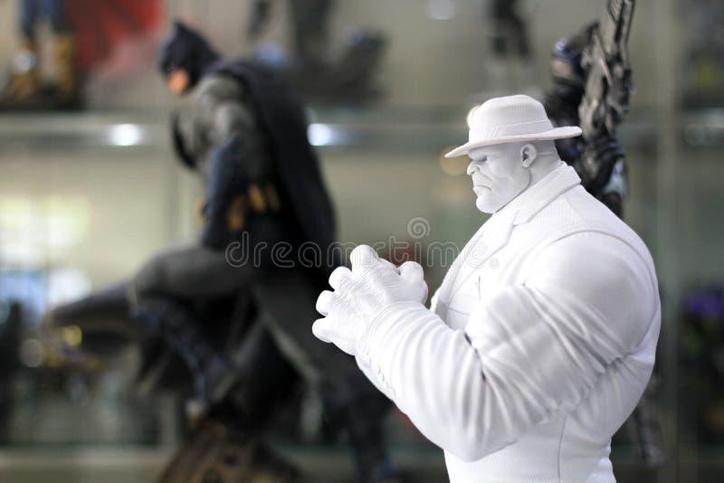 Weißes Xmen-Modell auf Anzeige am M Cafe stockfoto