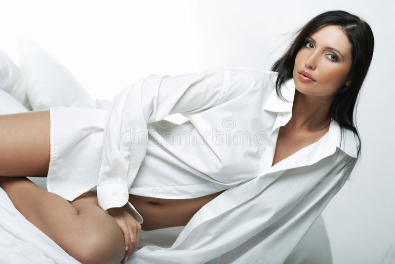 Weißes XXL Hemd stockfoto
