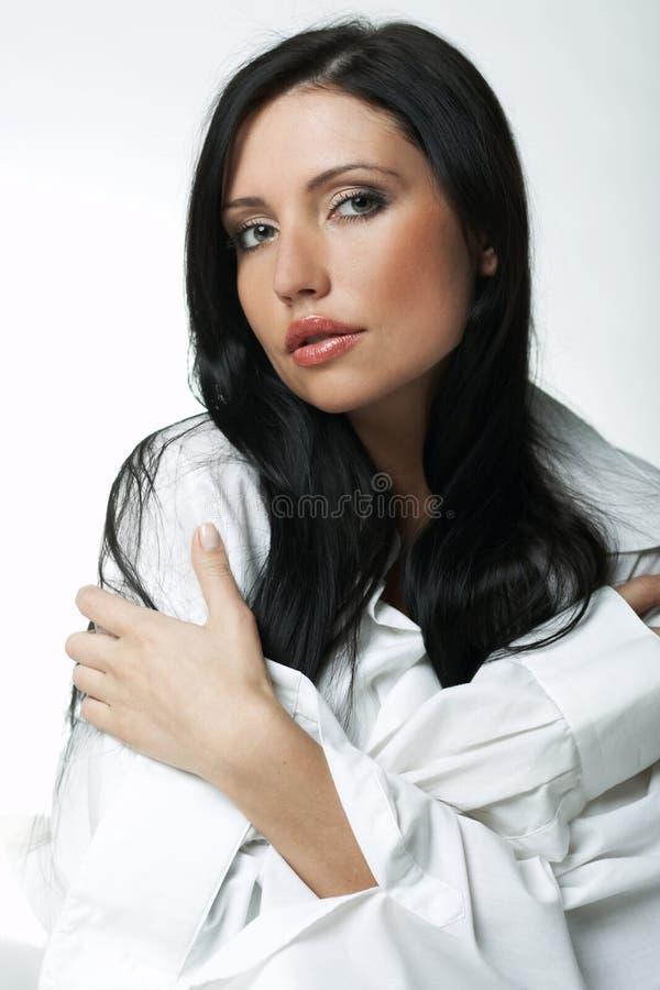 Weißes XXL Hemd stockbild