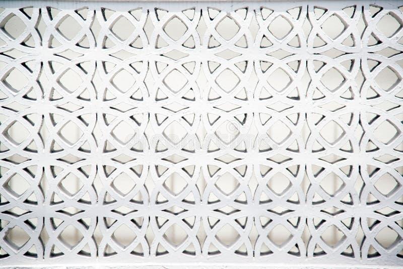 Weißes Ziegelsteinloch des Kunstzaun-Wandhintergrundes lizenzfreie stockbilder