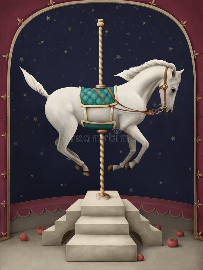 Weißes Zirkuspferd. lizenzfreie abbildung