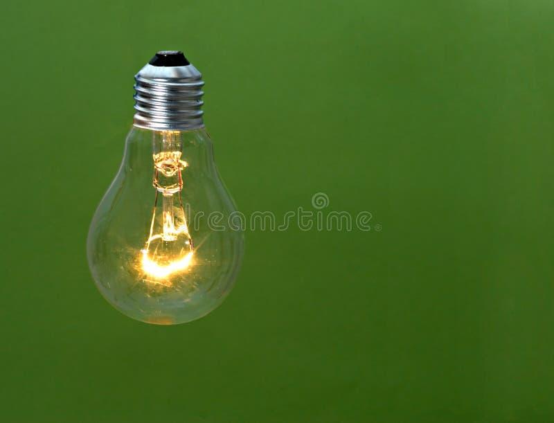 Weißglühende Glühlampe stockbild