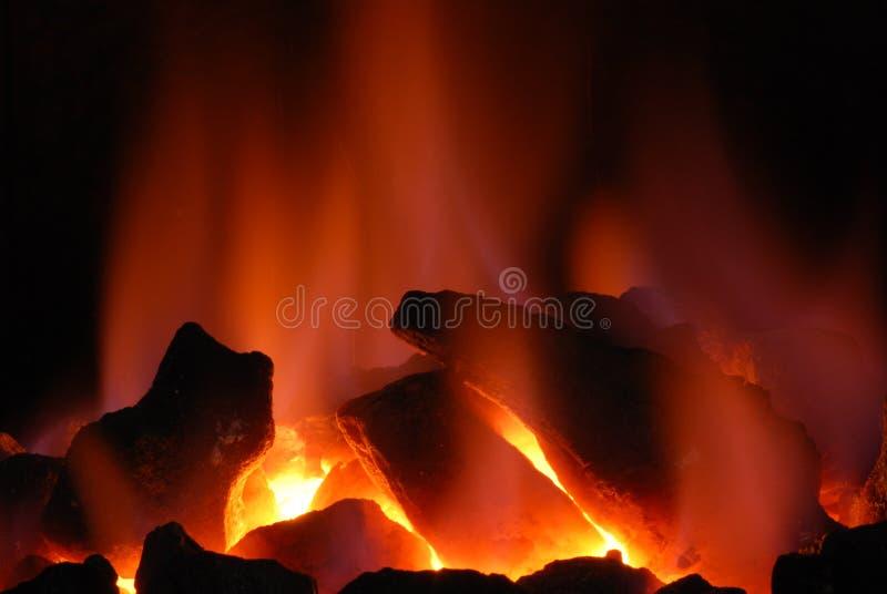 Weißglühende Kohle stockfotos